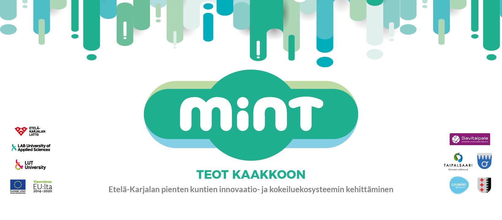 Mint-hankkeen logo sekä kaikkien yhteistyökumppaneiden logot.